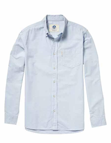 WOVEN PETER The North Sails take on the oxford shirt works quality 100% cotton to produce a luxury finish.