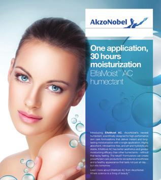 com/personalcare Skincare, Toiletries Conditioners - Skin, Humectants, Moisturisers ElfaMoist AC Humectant, AkzoNobel s latest innovative skincare ingredient, provides the personal care industry with