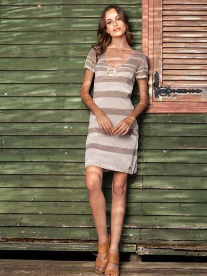 S18018 VARIEGATED STRIPED LUREX DRESS $68 wholesale / $149 sugg.