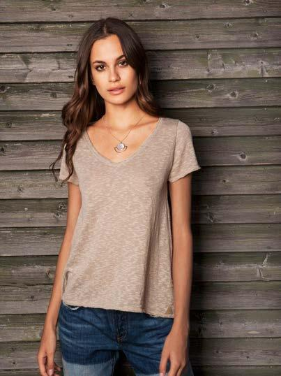 S18037 BURNOUT SHORT SLEEVE V-NECK $41 wholesale / $89 sugg.