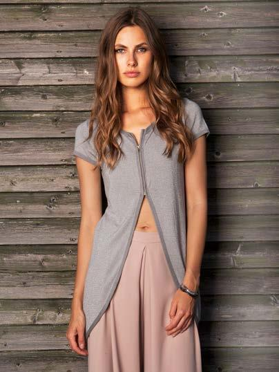 S18038 ZIP FRONT SHORT SLEEVE LUREX CARDIGAN $64 wholesale /