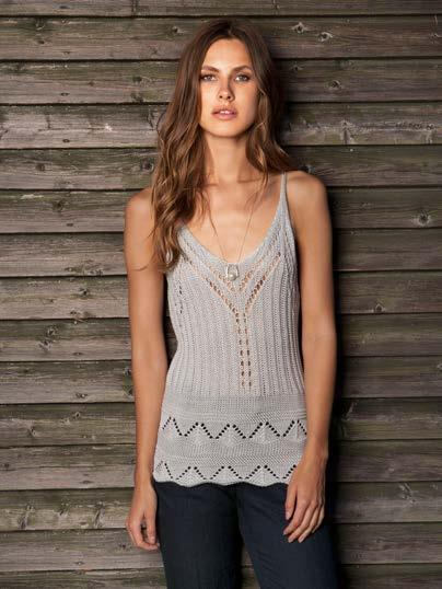 MULTI WEAVE KNITTED TANK $45 wholesale / $99 sugg.