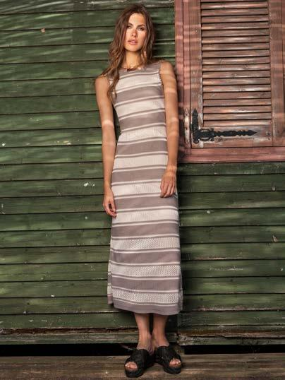 S18043 MAXI STRIPED LUREX DRESS $86 wholesale / $189 sugg.