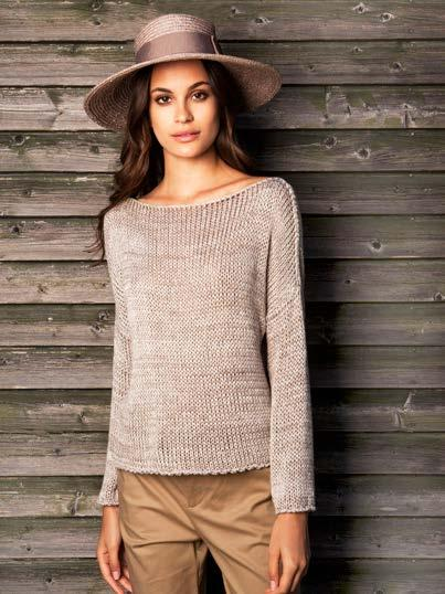 MELANGE BOAT NECK SWEATER $59 wholesale / $129 sugg.
