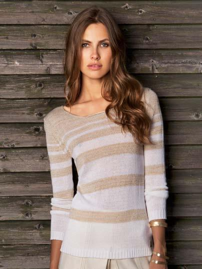 S18004 VARIEGATED LUREX SWEATER $49 wholesale / $109