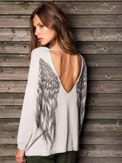 S18008 WING BACK SWEATER $59 wholesale / $129 sugg.