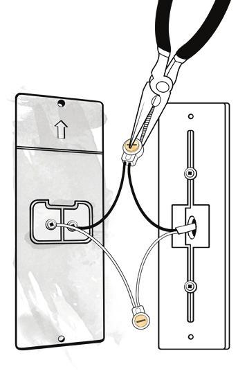 Connecting Power To The Video Doorbell Next, refer to diagram 4 to connect your existing doorbell wiring to the leads located on the back of the Video Doorbell.