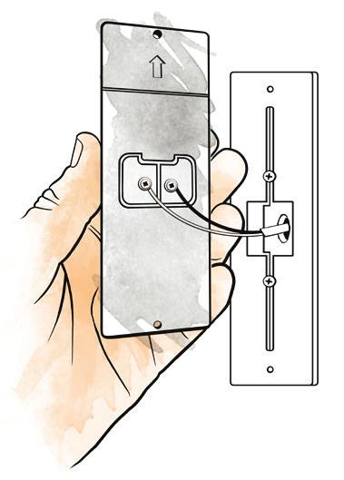 Insert the wires into the connectors as shown in diagram 5 and use pliers to snap the button into place. There is no need to strip any wires as the connectors will pierce the insulation for you.