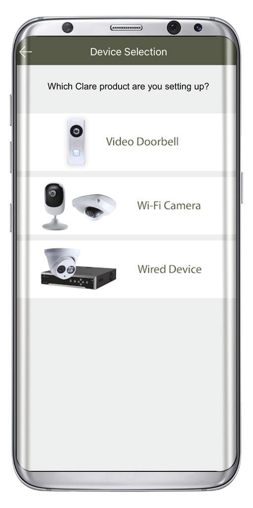 Setting Up The Video Doorbell In The ClareVision Plus App App Step 2 1 The camera is ready to configure once the LED on the front of the doorbell is solid red.