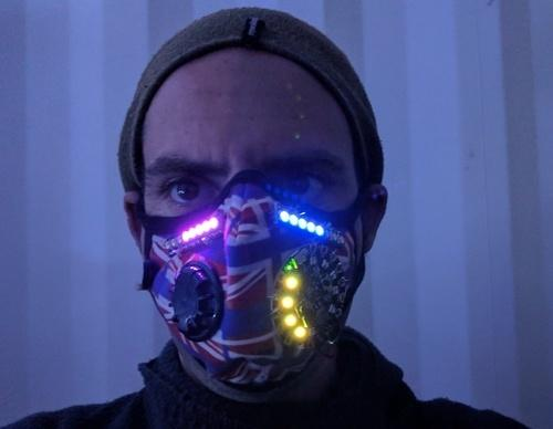 LED Breath Stats Mask Created by Michael