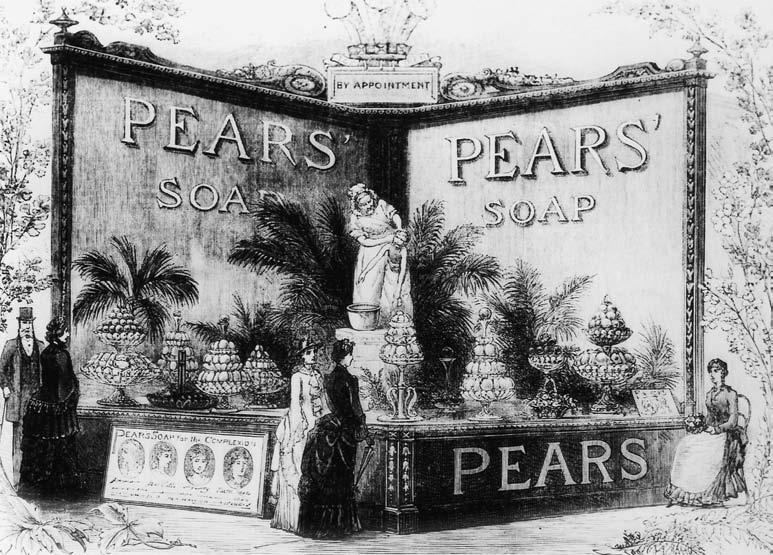 The incalculable blessings of clean skin Figure 4.5 You Dirty Boy statue by Focardi as part of the Pears Soap stand at the International Health Exhibition; Illustrated London News, 2nd Aug 1884, p.