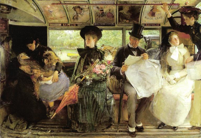 Chapter 4 Figure 4.13 Pears soap advertisement in painting The Bayswater Omnibus by G.W. Joy, 1895 (172 x 120 cm), Museum of London. might sustain every sort of bacteria.