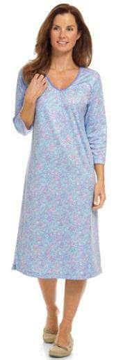 Nightgown, V - Neck