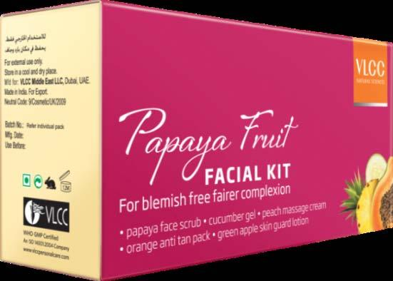 For blemish-free & Fades tan, softens