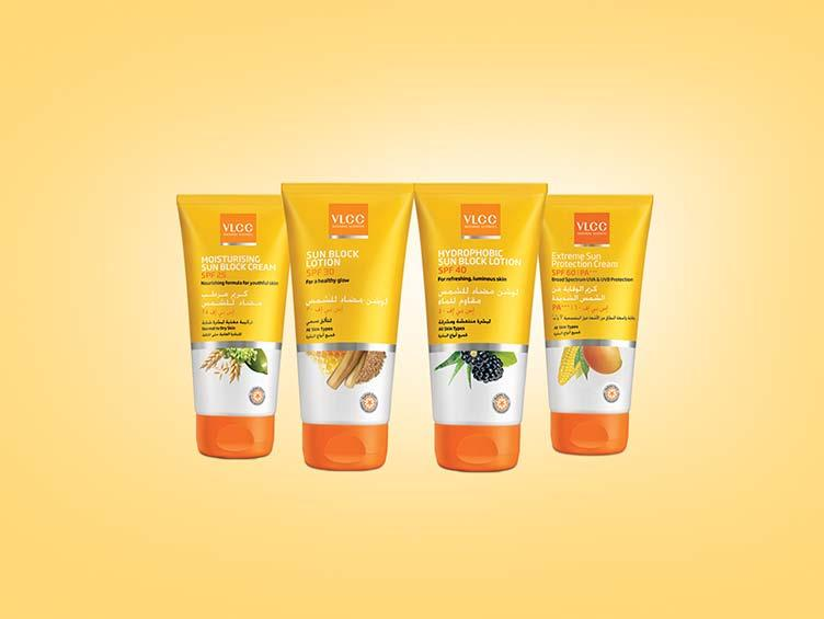 SUN CARE Moisturizing Sun Block Cream SPF 25 Sun Block Lotion SPF 30 Hydrophobic Sun Block Lotion SPF 40 Extreme Sun Protection Cream SPF 60 Normal to Dry Skin All Skin Types All Skin Types All Skin