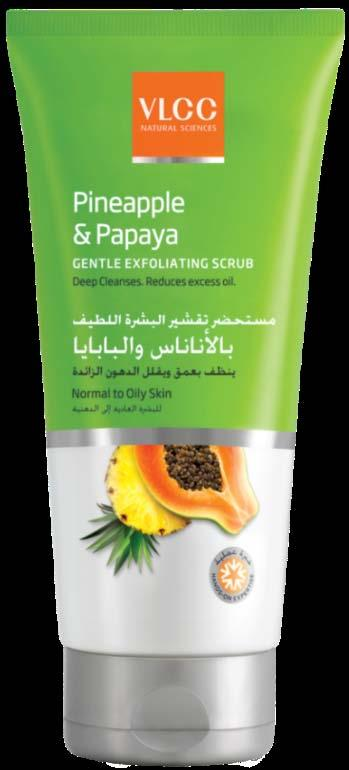 FACE SCRUBS Pineapple & Papaya Gentle Exfoliating Face Scrub Indian