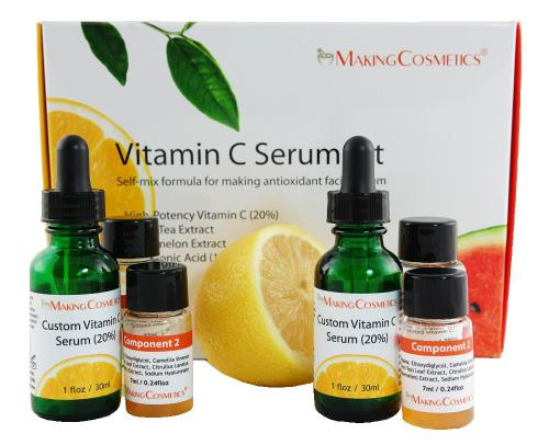 VITAMIN C SERUM KIT KITS-VITCSE-01 Description: This kit is a self-mix formula for making a highly antioxidant facial serum.