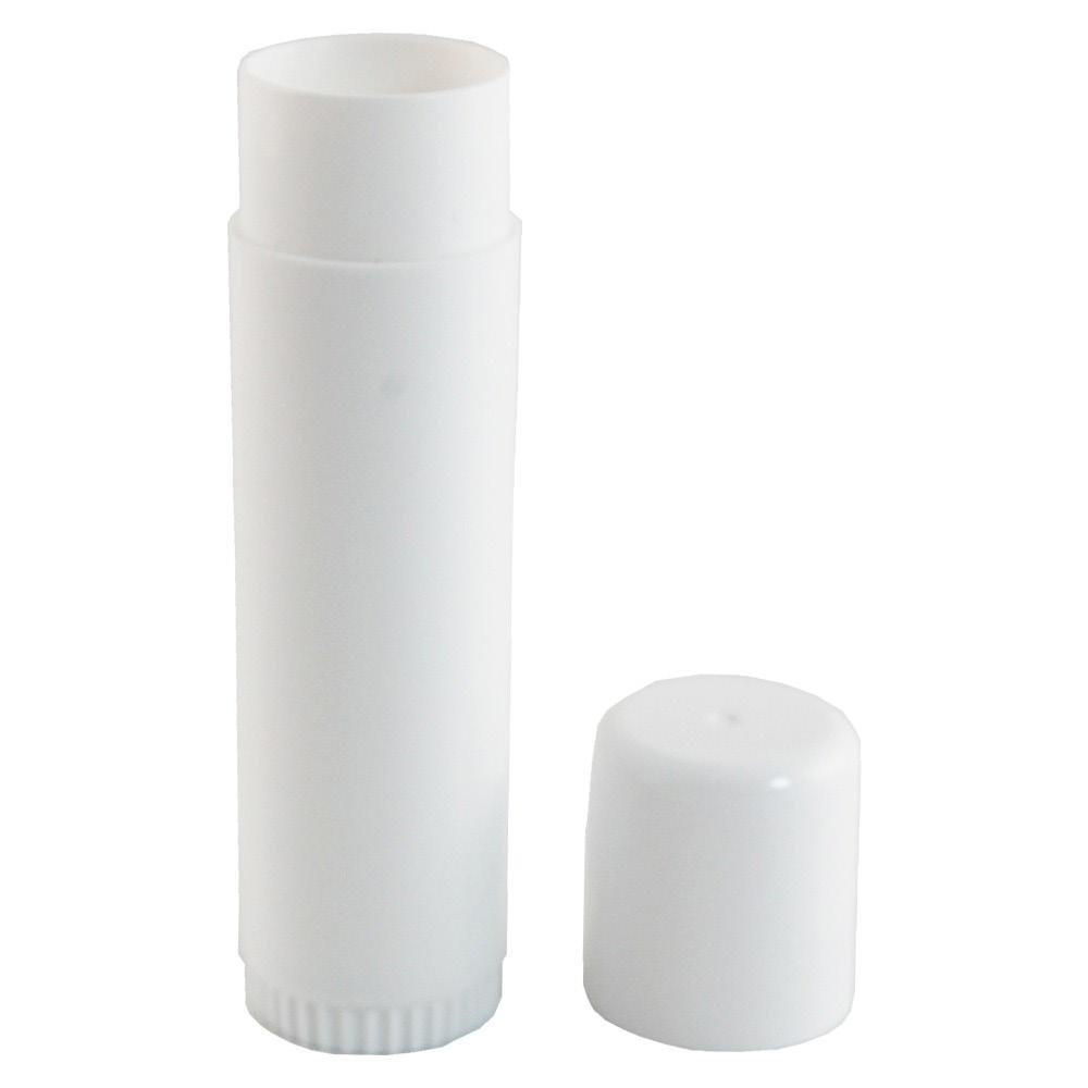 POWDER & MAKEUP CONTAINERS MAKEUP STICK (KALA) CNT-KALA-01 Description: White, round polypropylene tube with white cap. Height 3.75in/9.5cm, diameter 0.9in/2.