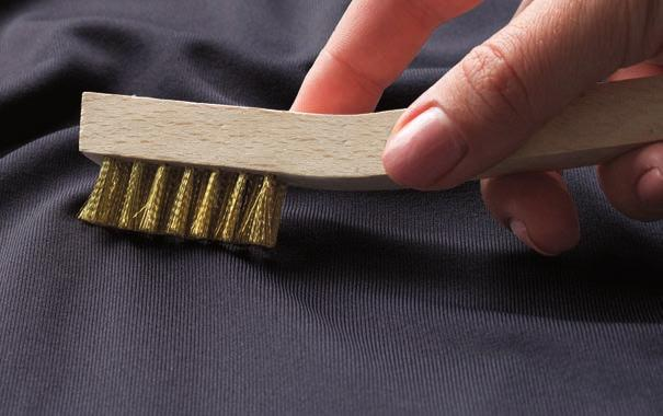 protection Triple-needle stitching on seams for durability Three-button placket