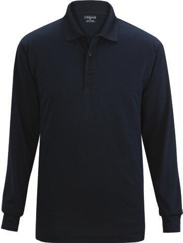 seams Three-button placket with dyed-to-match buttons and tagless neck Men s has side vents Rental ready 100% Polyester, 6.7 oz.