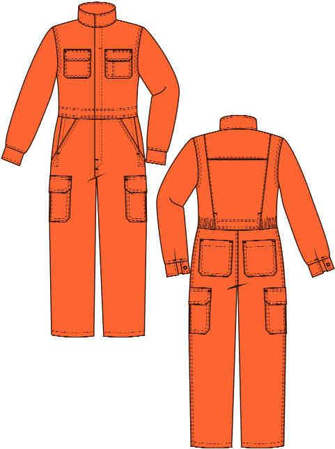 LADIES FR COVERALL X1649LPR8 Deluxe Cargo Vented Breathable Coverall HRC orange dk blue navy khaki 8 oz.