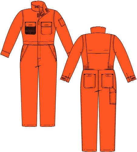 LADIES FR COVERALL with Concealed Snaps Closures with Velcro Closures X163LSY75 Ladies Deluxe Vented Breathable Coverall 7.5 oz.