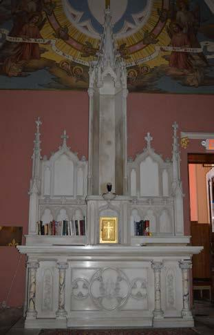 of antique Side Altars.