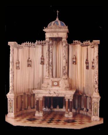 Museum Quality Marble Altar Shrine Niche KRALTAR-10 KRALTAR-10 This solid marble shrine/altar is