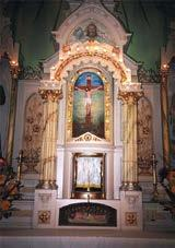 The base of the main altar also has