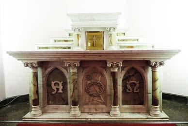 Title Gothic of Window Side Altars Set KRALTAR-1304