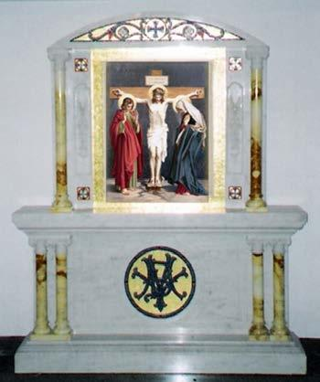 Traditional Carrara Marble Altar/Shrine KRALTAR-686 31 KRALTAR-686
