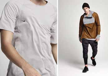 DYNE Shows Stitch-Free Collection at New York Fashion Week Christopher Bevans luxury sportswear label DYNE has won acclaim for its use of NFC technology in garments, but for its SS18 collection