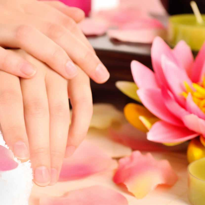 BEAUTY TREATMENTS Luxury Manicure 1 hour 45 File, buff & cuticle work, hand massage, mask and heated mitts, finished with a nail paint.