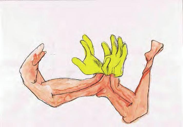 MARIA LASSNIG A Pair of Gloves, 2006/2009 For Parkett 85 6-color silkscreen print on Arches 88 paper 300 g/m 2, rein Hadern, paper size: 28 x 20 3 /4 (71 x