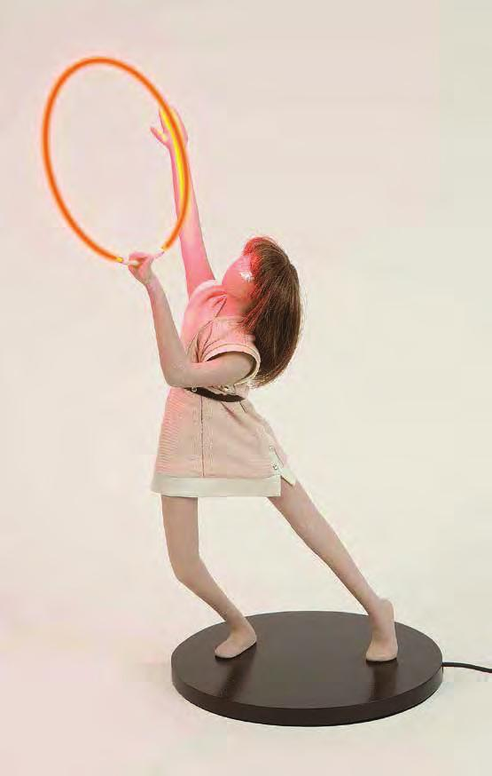 MAI-THU PERRET A Portable Apocalypse Ballet (Red Ring), 2008 For Parkett 84 Sculpture, opaque non-toxic polyurethane resin, color cast with instant polyurethane pigments, clothing designed by Ligia