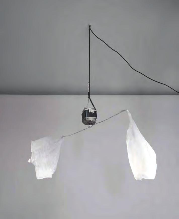 MONIKA SOSNOWSKA Fly Repellent, 2012 For Parkett 91 Two plastic bags, wire, electric motor, cable, 23 1