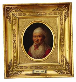 Juel (1724-1799). Unsigned. Oil on copper. 10 x 8.5 cm each. Oval in four-sided frames. (2). A Catalogue Raisonné of the Collection of Danish Art owned by consul general Johan Hansen, 1917 no.