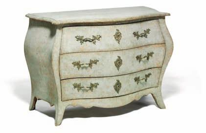 (2) DKK 50,000-75,000 / 6,700-10,000 189 189 a swedish rococo grey painted chest of