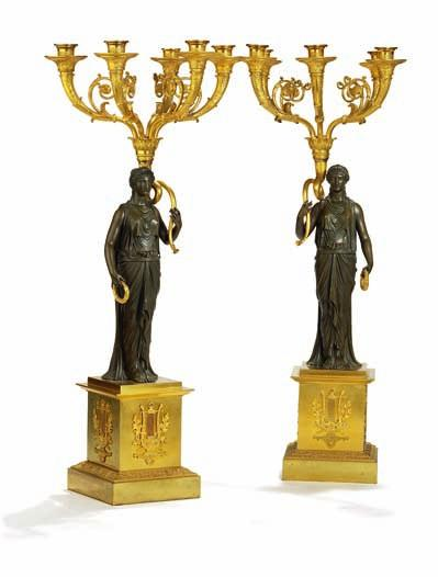 268 a pair of french gilt