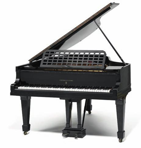 279 279 steinway & sons; a grand piano black lacquered wood, model o, serial number 183244. Manufactured 1916. H. 97 cm. l. 180 cm. W.