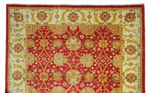 319 317 an european pile carpet in classical French aubusson style of flowers and foliage. c. 1940. 392 x 287 cm. DKK 25,000 / 3,350 318 a full silk tabriz, persia.