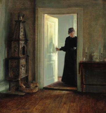 44 44 CARL HOLSØE b. Aarhus 1863, d. Asserbo 1935 Interior with the painter's wife in a doorway. Signed Carl Holsøe. Oil on canvas. 55 x 52 cm. DKK 150,000 / 20,000 45 HARALD SLOTT-MØLLER b.