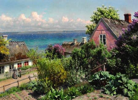 67 67 PEDER MØNSTED b. Grenaa 1859, d. Fredensborg 1941 Summer day in Aalsgaarde, in the background the Swedish coast.