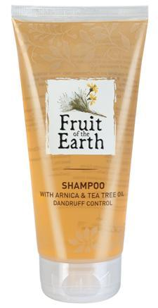 Fruit of the Earth Shampoo with Arnica & Tea Tree Oil Dandruff Control BENEFITS FEATURES CODE-PC1005 Removes dandruff & heals damaged scalp. Helps reduce flaking & itching.