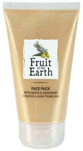 Fruit of the Earth Face Pack with Neem & Rosemary (Sensitive & Acne Prone Skin) BENEFITS FEATURES Helps fight acne and prevent it from recurring by cleansing the pores from impurities.