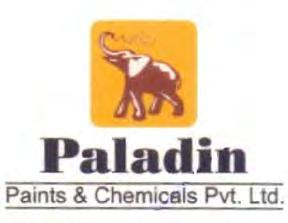 Trade Marks Journal No: 1796, 08/05/2017 Class 2 2802367 02/09/2014 M/S. PALADIN PAINTS & CHEMICALS PVT. LTD.