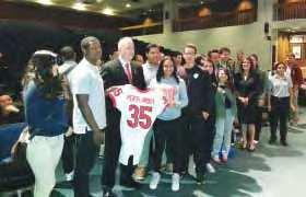On April 27 th, Rutgers held a Scarlet-White football game dedicated to the 90 municipalities across New Jersey affected by Superstorm Sandy.