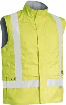 Fabric 300D 98% Polyester 2% Carbon Oxford with PU Coating Yellow/Black (TT12) Yellow/Navy (TT04) BVO363T 3M TAPED HI VIS WET WEATHER ANTI