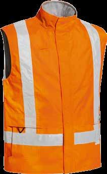 Seams are seam sealed Radio loop Storm flap with touch tape and zip closure Dual entry pockets with flannelette lining Vest sold separately, but