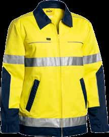 20 21 Detachable Lined Vest COLD WEATHER BJ6970T 3M TAPED HI VIS 3 IN 1 DRILL JACKET 3M Reflective taped H pattern around body Three in one style Jacket and Vest, Jacket only or Vest